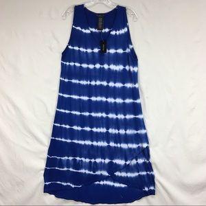 Design History Tie Dye Shift Crossover Midi Dress